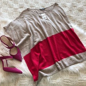 Vince Poncho Style Asymmetric Sweater Top